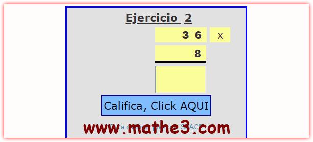 practica de multiplicacion de dos cifras