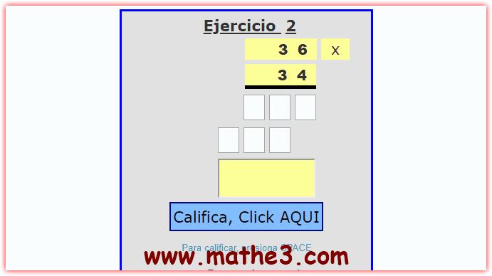 ejercicios de multiplicacion por 2 cifras para imprimir