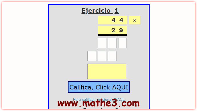 multiplicacion de dos cifras para tercer grado de primaria
