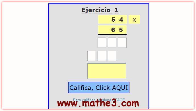 ejercicios de multiplicacion para resolver de tercer grado