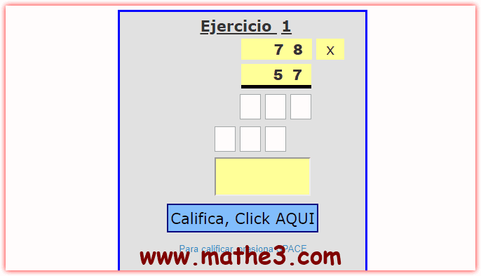 operaciones de multiplicacion para tercer grado de primaria
