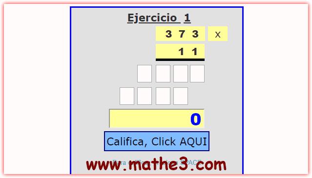 ejercicios de multiplicacion de tres cifras para imprimir