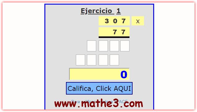 ejercicios de multiplicacion para resolver online