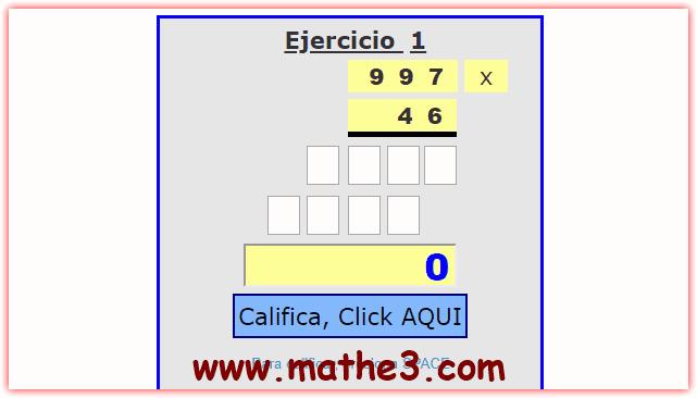 multiplicacion interactiva con dos digitos ejercicios